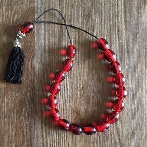 Red Greek Worry Beads aka Komboloi